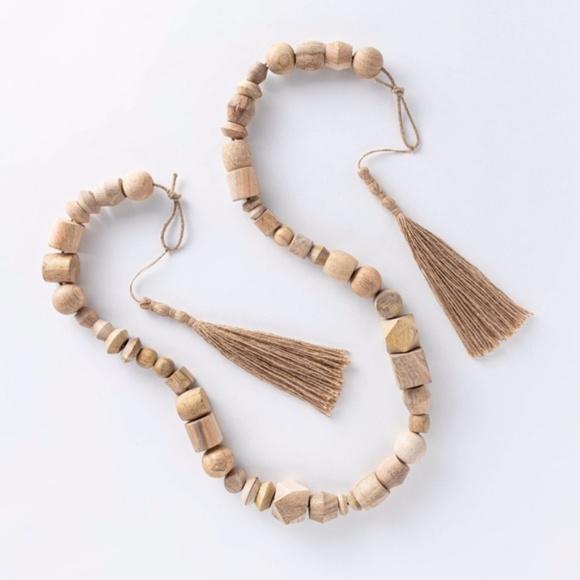 Threshold Studio McGee Wooden Bead garland natural